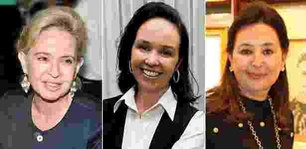 As 3 irmãs do grupo Camargo Corrêa: Rosana, Renata e Regina - Fobres / Reprodução / Montagem BOL