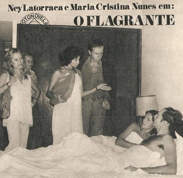 """Além da fotonovela """"Luz, Câmara, Amor"""", Ney Latorraca também fez uma participação especial em """"O Flagrante"""""""