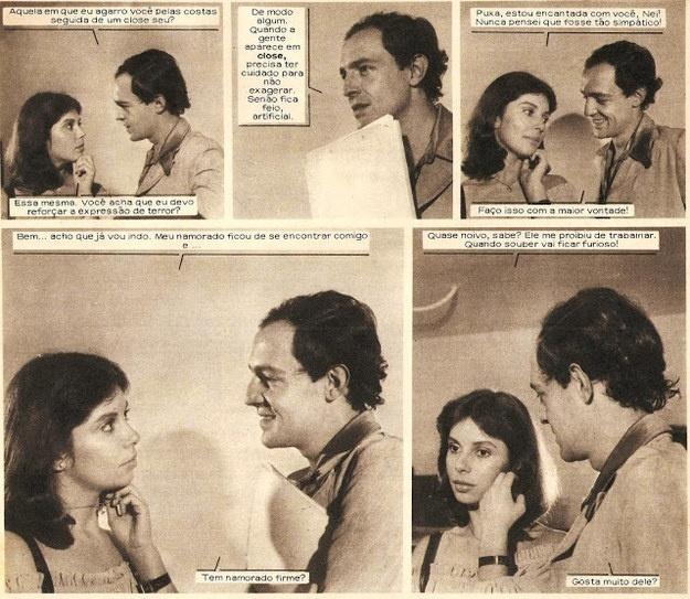 Outro célebre ator, Ney Latorraca fez uma participação especial na fotonovela ?Luz, Câmara, Amor?