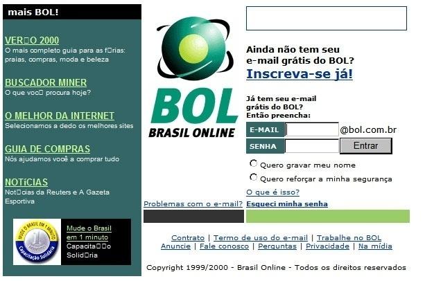 Em 1999, o BOL lançou o primeiro e-mail grátis do país, ganhando grande destaque na primeira página do site. O serviço tem atualmente mais de 4,5 milhões de contas ativas, segundo dados de junho de 2014