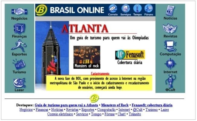 O BOL foi lançado em abril de 1996 e incorporado pelo UOL (Universo Online) em setembro daquele ano