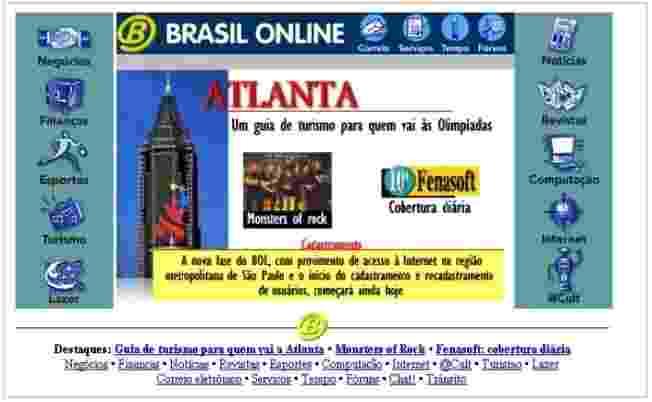 O BOL foi lançado em abril de 1996 e incorporado pelo UOL (Universo Online) em setembro daquele ano - BOL