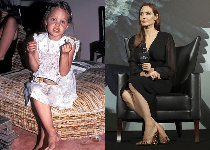 21.jul.2014 - Uma foto circulando pela web mostra Angelina Jolie durante a infância. A atriz era uma gracinha, mas quem diria que viria a se tornar uma beldade conhecida no mundo todo, não é mesmo?