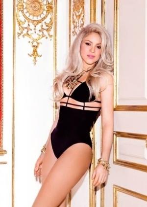 """Shakira em foto de divulgação do álbum """"Shakira"""" , lançado em 2014 - Reprodução/Site Oficial"""