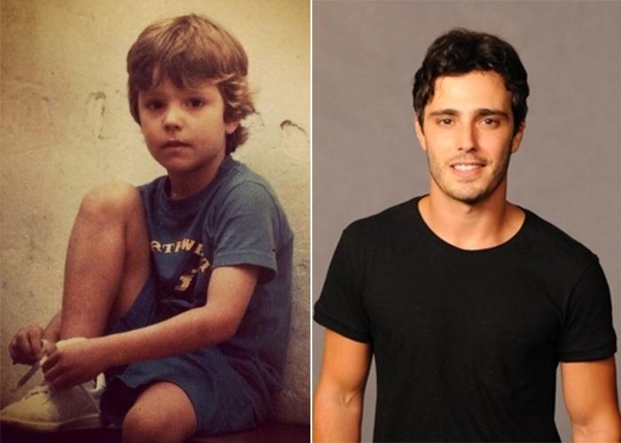 """22.jul.2014 - O ator Thiago Rodrigues mostrou uma foto em seu Instagram de quando era ainda uma criança. """"Na minha época... 7 anos..."""", escreveu. Você acha que ele mudou muito?"""