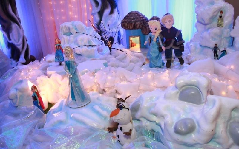 """25.ago.2014 - Detalhe da decoração com a animação """"Frozen"""""""