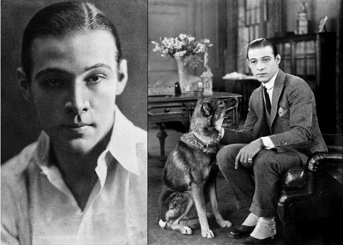 """23.ago.1926 - Nascido na Itália e radicado nos Estados Unidos, o ator Rodolfo Valentino, considerado um dos primeiros """"latin lovers"""" (amantes latinos) das telonas, morreu aos 31 anos, vítima de uma úlcera. Estima-se que cerca de 100 mil pessoas compareceram ao funeral do galã em Nova York"""