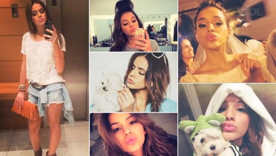 """Bruna Marquezine é criticada por alguns seguidores em seu Instagram. O motivo? Segundo eles, a atriz posa sempre com a mesma """"boca de pato"""" nas fotos"""
