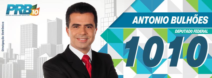 Antonio Bulhões, do PRB (Partido Republicano Brasileiro), teve 137.939 votos (0,66% dos votos válidos)