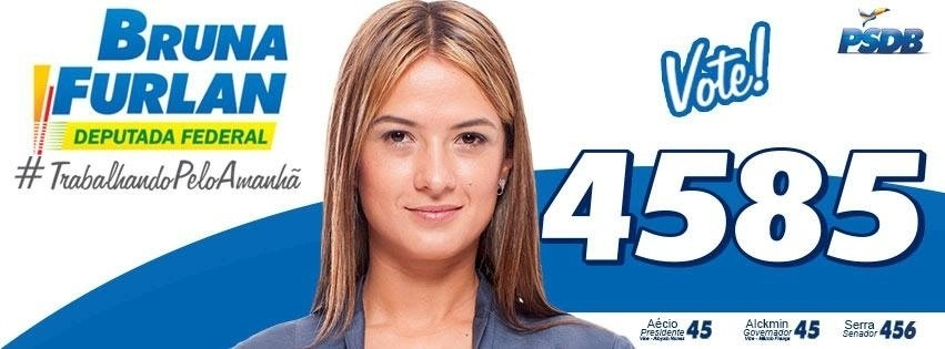 Bruna Furlan, do PSDB, teve 178.606 votos (0,85% válidos)