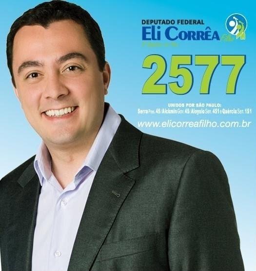 Eli Corrêa Filho, do DEM, teve 134.138 votos (0,64% dos votos válidos)