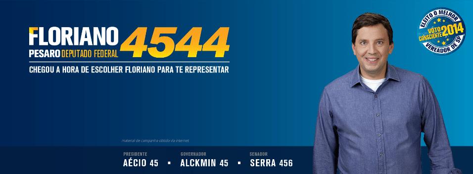 Floriano Pesaro, do PSDB,  teve 113.949 votos (0,54% dos votos válidos)