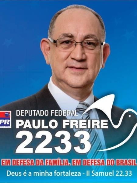 Paulo Freire, do PR, teve 111.300 votos (0,53% dos votos válidos)