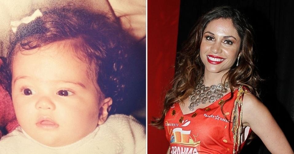 """12.out.2014 - """"Feliz dia das crianças !!! Eu sou essa criança dentro de mim"""", escreveu Maria Melilo ao postar imagem sua quando bebê"""