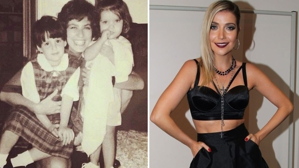 12.out.2014 - Luiza Possi posta imagem da infância ao lado de Patricia Pillar e a prima Mariana Millon