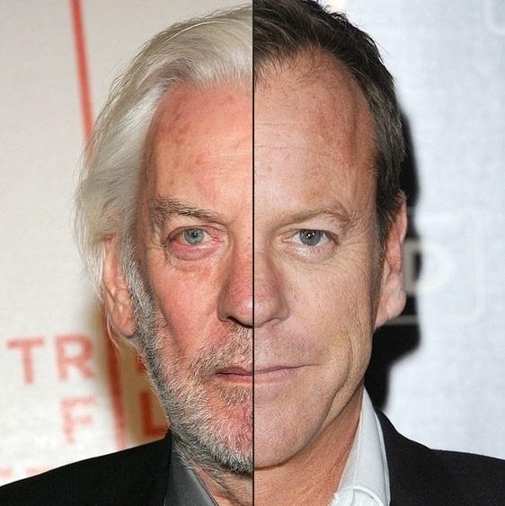 """A semelhança entre Donald e Kiefer Sutherland chega a """"assustar""""! Pai e filho são quase clones!"""