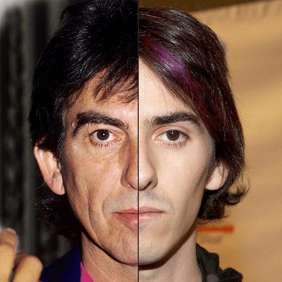 Dhani Harrison (dir.) herdou a genética do pai famoso, o beatle George Harrison