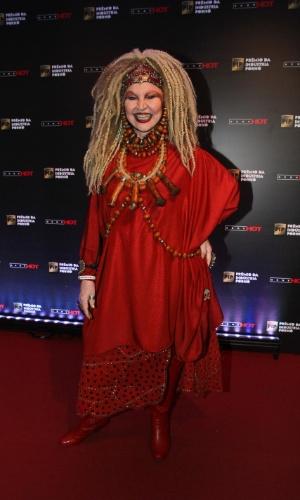 14.out.2014 ? A atriz Elke Maravilha comparece ao Prêmio da Indústria Pornô, em São Paulo