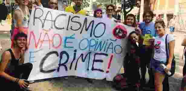 Protesto de estudantes contra denúncia de racismo em SP - Carina Vitral/Divulgação