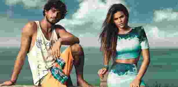 Bruna e Marlon se conheceram em um ensaio de moda e chegaram a desfilar juntos no Fashion Rio do ano passado - Pedrita Junckes/Divulgação