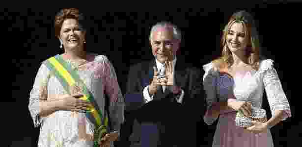 Dilma, Michel Temer e sua mulher Marcela na posse do segundo mandato, em 2015 - Marcelo Sayao/EFE - Marcelo Sayao/EFE