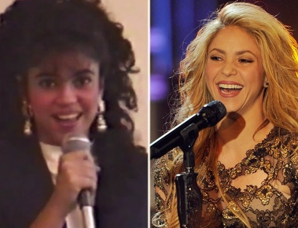 19.jan.2015 - Shakira mudou radicalmente. Você consegue imaginar as divas do pop quando não eram famosas? O álbum reúne fotos que mostram o antes e o depois de 9 cantoras. Algumas mudanças são incríveis!