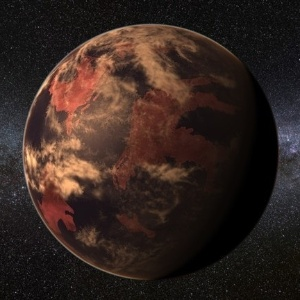 19.jan.2115 - Concepção artística de planeta ao redor de estrela anã vermelha, como o recém-descoberto