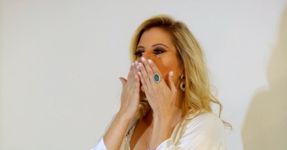 3.fev.2015 - A apresentadora e atriz brasileira Evelyn Montensano, conhecida pela participação na minissérie