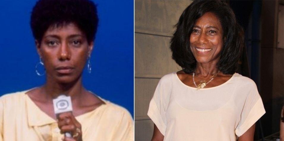 Glória Maria começou a carreira como repórter da TV Globo com o cabelo bem curtinho e crespo. A primeira imagem mostra o look de Glória em 1977