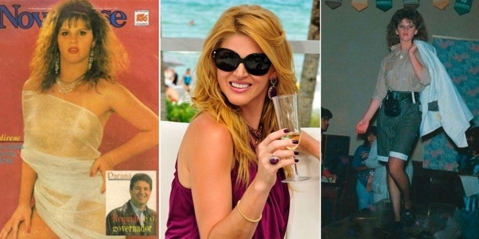 """Quando ainda era Valdirene Aparecida, a socialite Val Marchiori vivia com bem menos """"glamour"""". Ela nasceu em uma família simples do interior do Paraná"""
