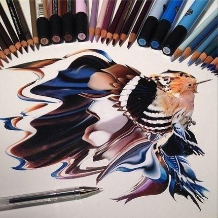 1.set.2014 - A artista Karla Mialynne surpreende com sua habilidade de criar desenhos extremamente realistas usando apenas lápis e caneta. Cheia de detalhes, as figuras são incríveis, e algumas até ficam com aspecto 3D