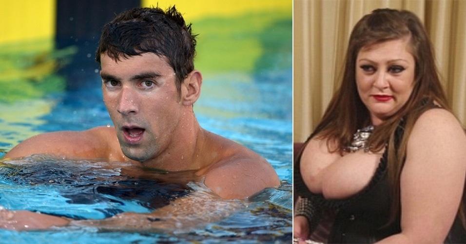 """18.mar.2015 - Em entrevista ao site britânico Daily Mail, Kim Petro, uma garota de programa, contou que o nadador Michael Phelps  usava uma calcinha durante uma noite em que passaram juntos. Além disso, a profissional revelou que o esportista pediu para que ela fizesse """"chuva de prata"""" - momento em que uma pessoa faz xixi sobre a outra na hora do ato sexual. Para o programa, que custou US$ 900, o nadador, ainda segundo Kim, usou um laço nas partes íntimas. Para não fazer alarde, Phelps teria marcado o encontro usando um nome falso, Fabian Marasciullo"""