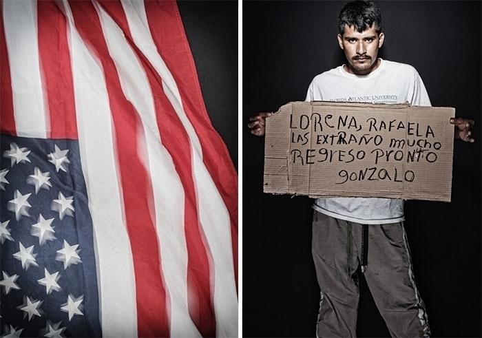 30.mar.2015 - Gonzalo (à direita) completou 22 anos viajando em situação irregular rumo aos Estados Unidos. O projeto fotográfico de Nicola Frioli, denominado