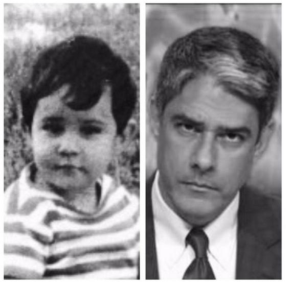 """5.abr.2015 - Em seu Twitter, William Bonner publicou uma foto de quando era criança. """"1965 & 2015"""", escreveu o jornalista, que recebeu elogios de seus seguidores. """"Muito lindinho"""", disse um internauta."""