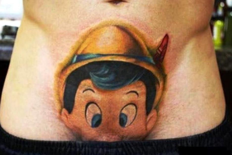Bilderesultat for tatuaj pinochio