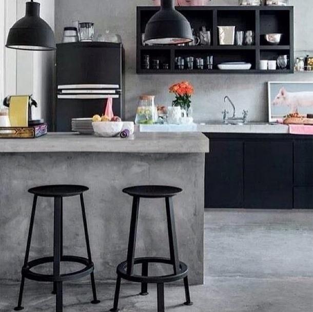 Cozinha cimento miss lanea