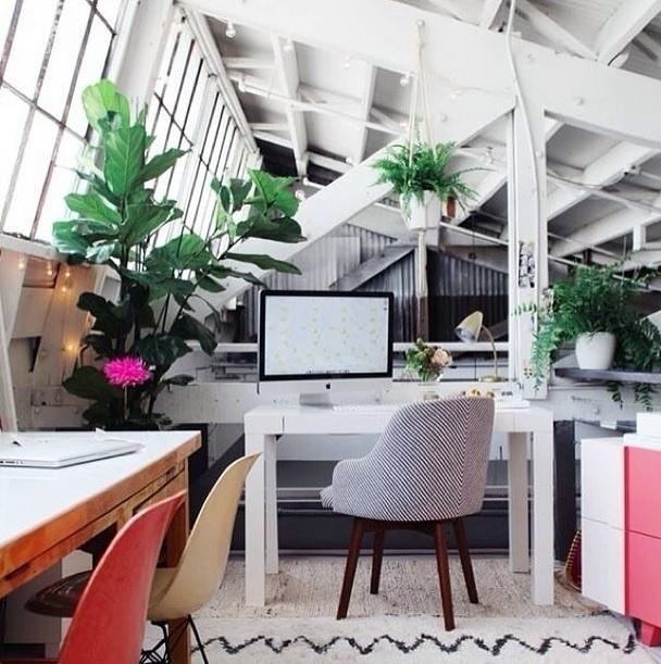 Resultado de imagem para home office decoração com plantas