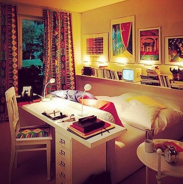 Inspiração para decoração de quarto. Imagem postada no perfil Casa Vogue Brasil