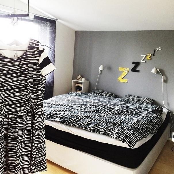 Inspiração para decoração de quarto. Imagem postada no perfil Fargebarn, no Instagram