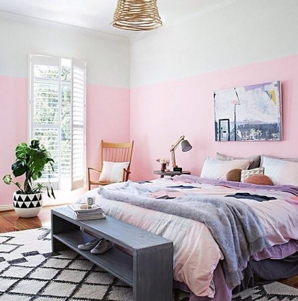 Inspiração para usar a cor rosa. Imagem postada no perfil Miss Lanea