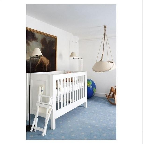 QUARTOS DE BEBÊ - Inspiração de decoração para quarto de bebê. Imagem postada no perfil Décor Aid, no Instagram