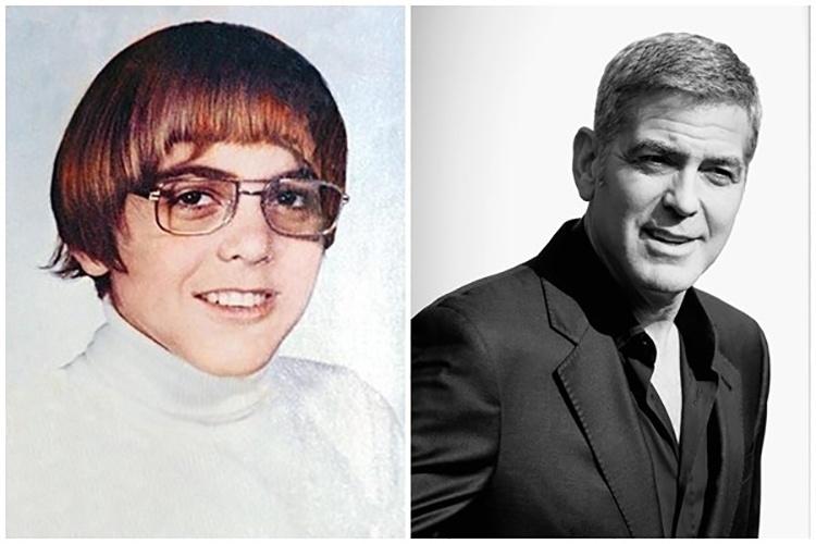 18.mai.2015 - George Clooney quando ainda era um garoto: corte de cabelo tigelinha e óculos. O ator mudou bastante!