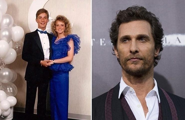 18.mai.2015 - O ator Matthew McConaughey (esq.) em grande estilo quando ainda era um adolescente