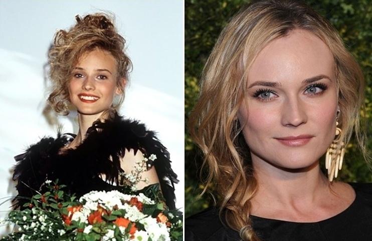 18.mai.2015 - Na adolescência, a atriz Diane Kruger (esq.) já chamava atenção por sua beleza