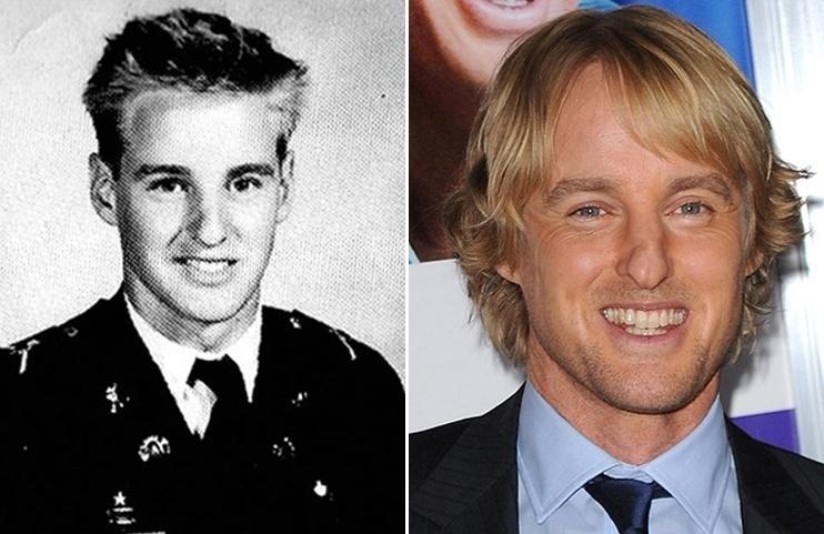 18.mai.2015 - Tirando o corte de cabelo, o ator Owen Wilson não mudou muito desde sua adolescência