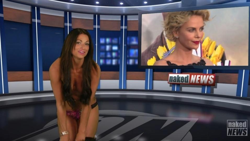 22.mai.2015 - A apresentadora Madison Banes aparece tirando completamente o vestido