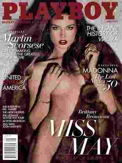 27.mai.2015 - A Playboy norte-americana apostou nas curvas de Brittany Brousseau em maio - Reprodução/Playboy