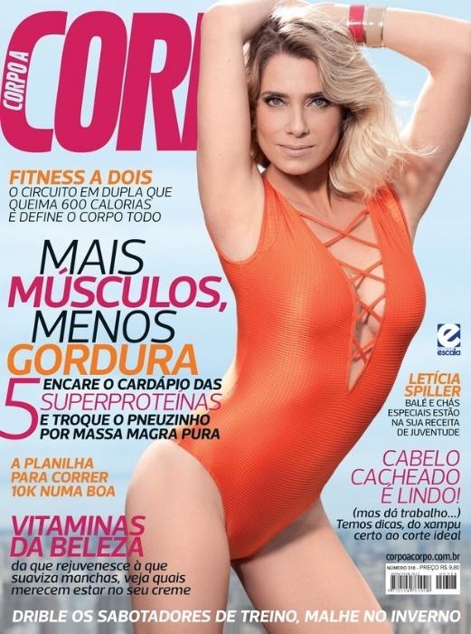 1.jun.2015 - Letícia Spiller é capa da revista Corpo a Corpo de junho