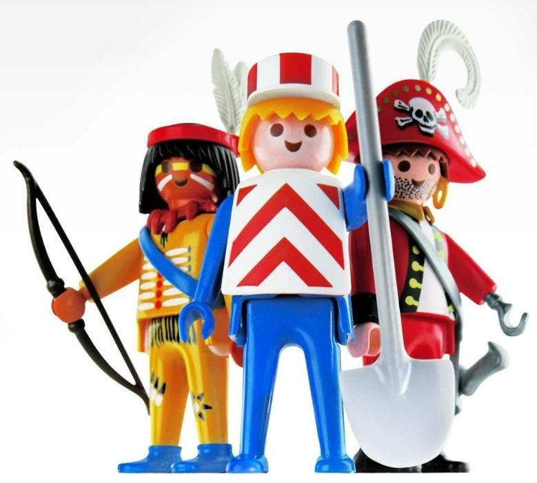 15. Playmobil fez muito sucesso entre os anos 80 e 90 que criavam, através dos bonequinhos de cabeça redonda, histórias e encenações