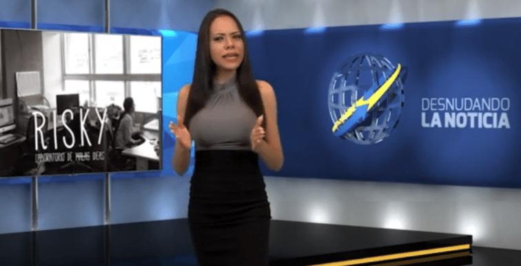 14.jun.2015 - Gabrielle Ciangherotti dá as boas vindas ao telespectador
